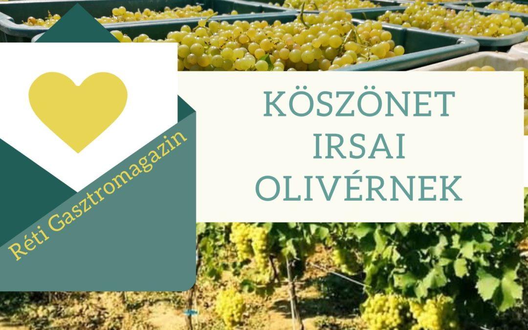 Köszönet Irsai Olivérnek
