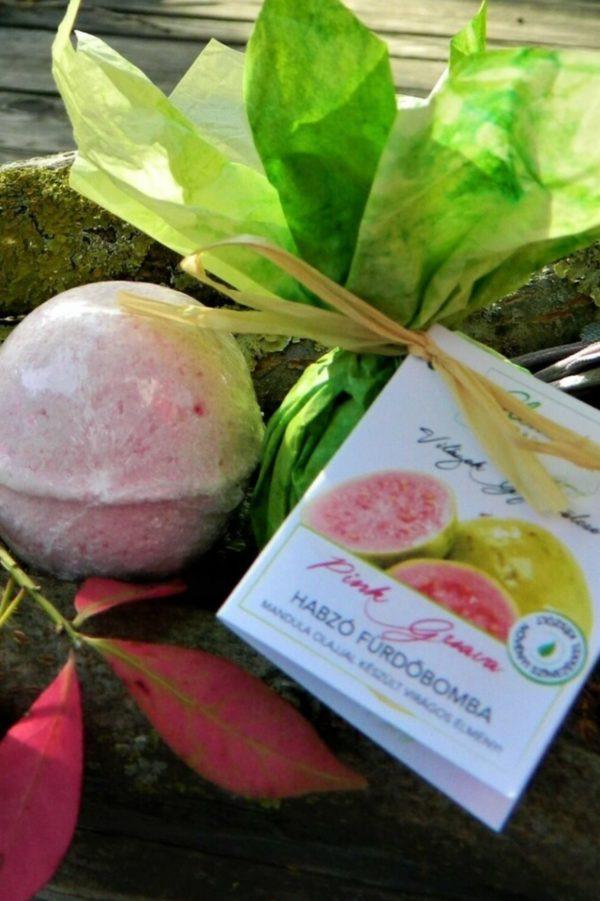 Clematis Szalon Pink guave habzó fürdőbomba - Réti Kényeztető csomag 2