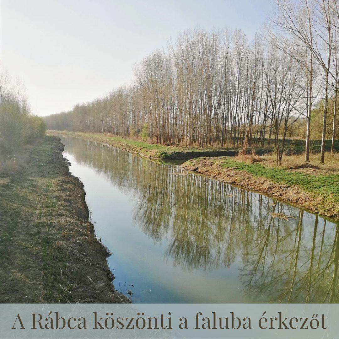 A Rábca köszönti a faluba érkezőt