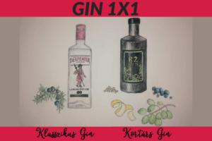 GIN 1X1 Klasszikus kontra Kortárs Gin