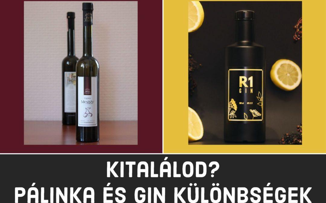 Pálinka és Gin: Mi a különbség?