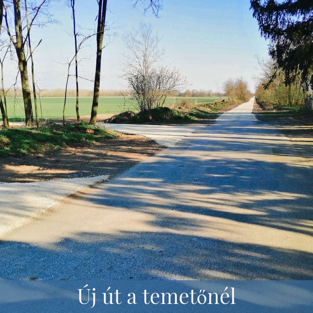 Új út a temetőnél